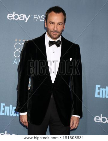 LOS ANGELES - DEC 11:  Tom Ford at the 22nd Annual Critics' Choice Awards at Barker Hanger on December 11, 2016 in Santa Monica, CA