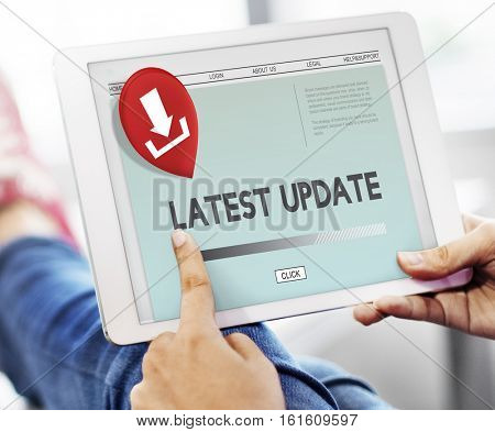Latest Update Download Application Concept