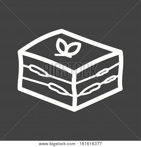 Tiramisu, italian, dessert icon vector image. Can also be used for european cuisine. Suitable for mobile apps, web apps and print media.