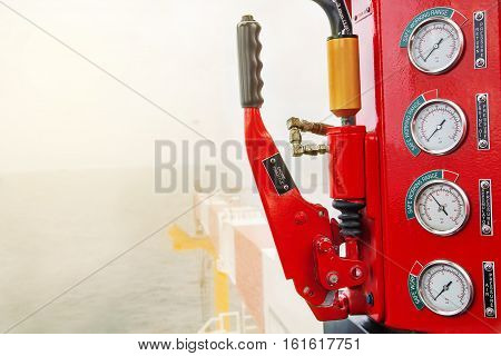 pedestal crane pedestal control panel in off shore oil and gas flat form