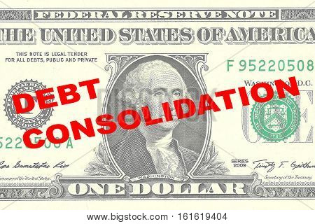 Debt Consolidation Concept