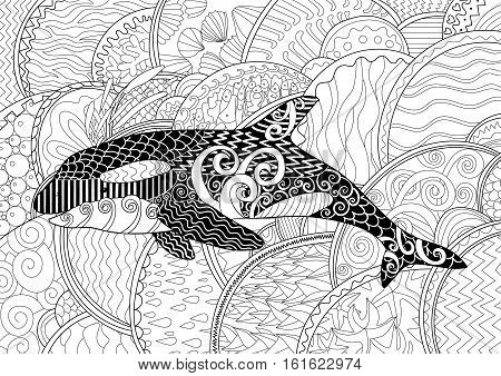 Coloring Pages Zentangle Abstract Book Peacock Tail Stock Vector ... | 338x450