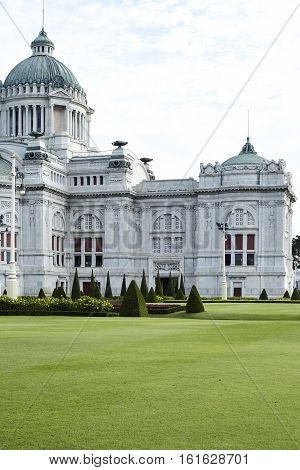 Anantasamakhom Throne Hall garden in Bangkok Thailand