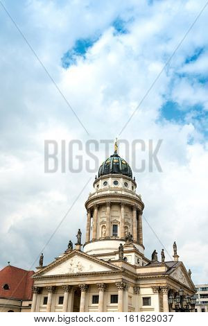 The Gendarmenmarkt is a square in Berlin, and the site of the Konzerthaus and the French and German Cathedrals