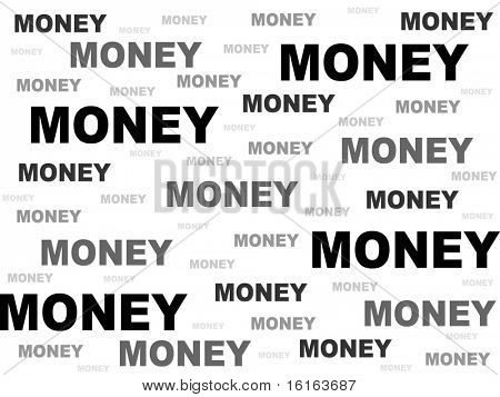 business background made of money word vector illustration
