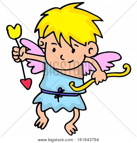Illustration of cupid collection stock vector art