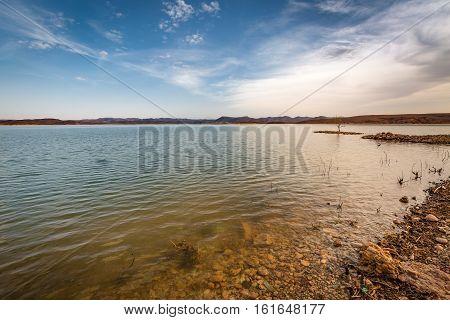 Water Reservoir El Mansour Eddahbi Near Ouarzazate, Morocco
