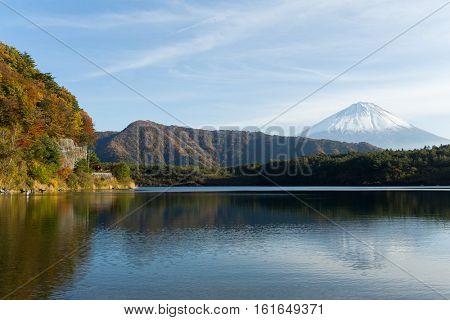 Fujisan and Saiko Lake