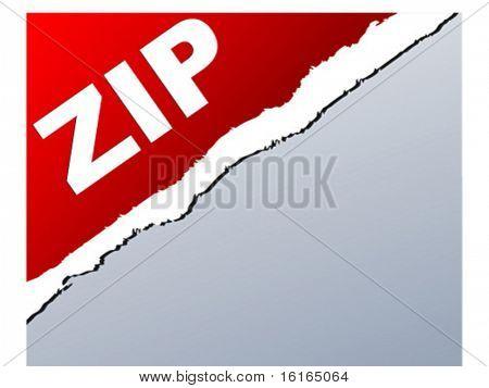 Extension of .zip files vector illustration