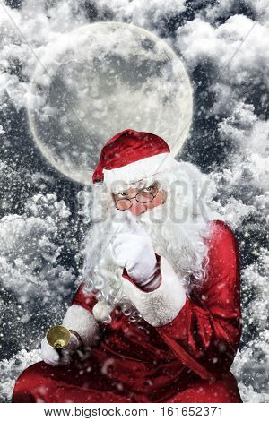 Santa Claus In The Christmas Night