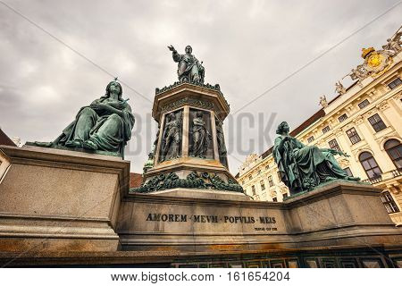 Monument To Emperor Franz I Of Austria In The Hofburg Palace In Vienna, Austria
