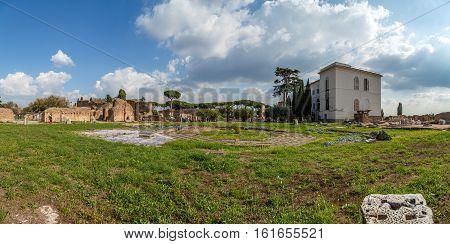 Rome Palatine Hill, Flavia House