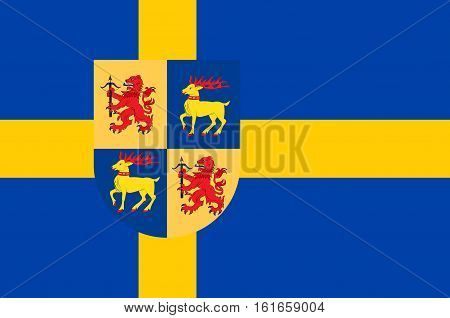 Flag of Kalmar County is a county or län in southern Sweden