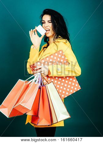 Pretty Girl With Shopping Bags