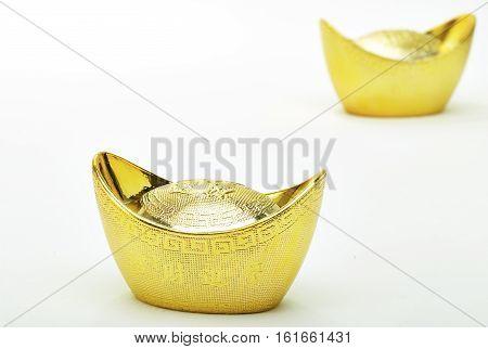 festivity Chinese new year and gold ingots