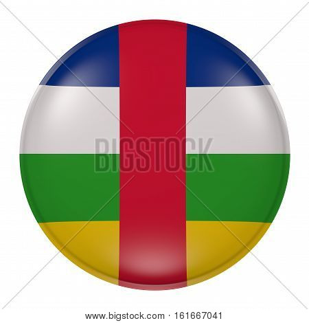 Central Africa Button On White Background