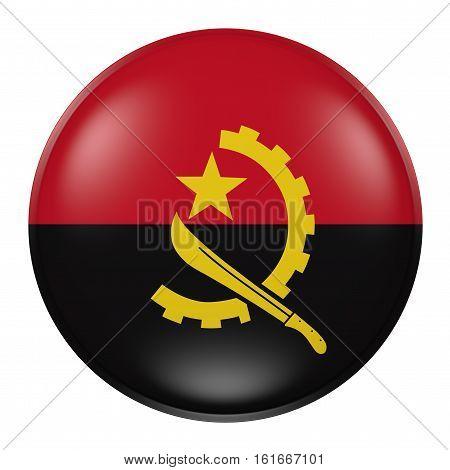 Angola Button On White Background