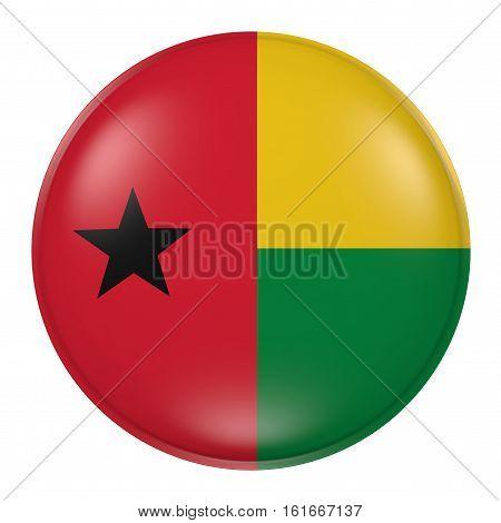 Guinea-bissau Button On White Background