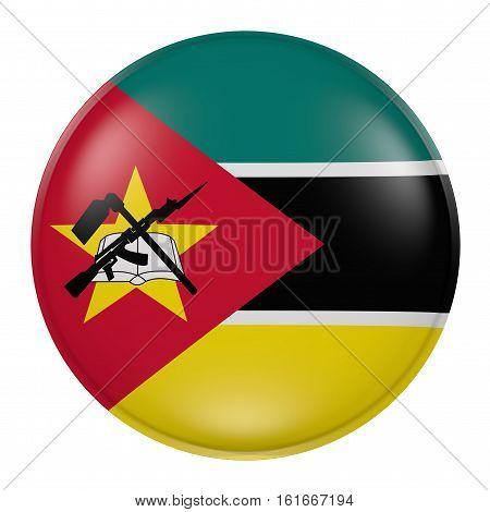 Mozambique Button On White Background