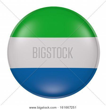 Sierra Leone Button On White Background