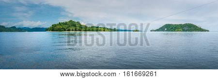Friwen and Wall Island, West Papua, Raja Ampat, Indonesia. Diving Spot. Banner