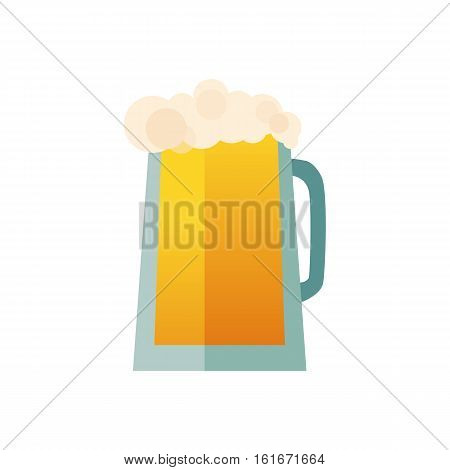 Beer glass cup icon isolated logo. Beer label, mug. Oktoberfest sign pub. Vector illustration EPS10