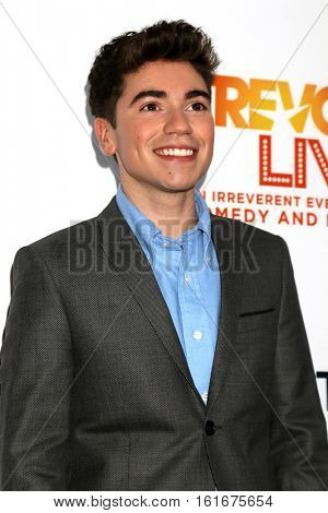 LOS ANGELES - DEC 4:  Noah Galvin at the TrevorLIVE Los Angeles 2016 at Beverly Hilton Hotel on December 4, 2016 in Beverly Hills, CA