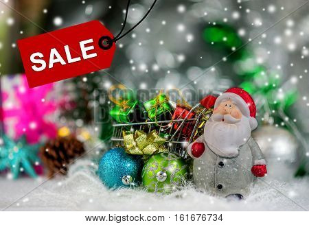 Christmas concept and Idea End of year sale