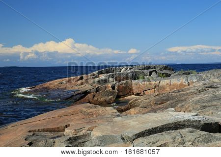 Russia,Karelia, the Onega plateau petroglyphs on lake Onego.