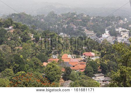 City Landscape In The Early Morning, Kandy, Sri Lanka.