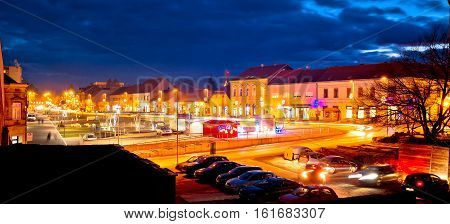 Town Of Krizevci Evening Advent View