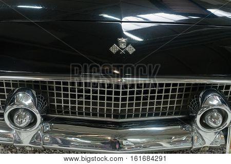 GERMANY, SINSHEIM - NOVEMBER 6, 2016. Oldtimer Ford car close up on November 6 2016 in Sinsheim, Germany