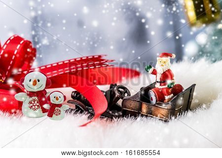 Christmas and Happy New year winter concept