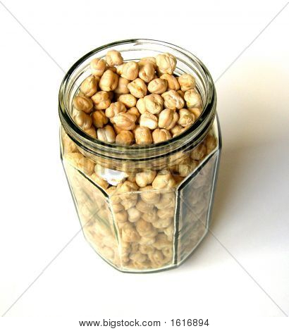 Chick Peas In Big Bottle