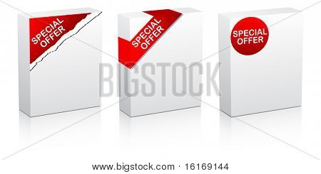 (raster image of vector) special offer white box