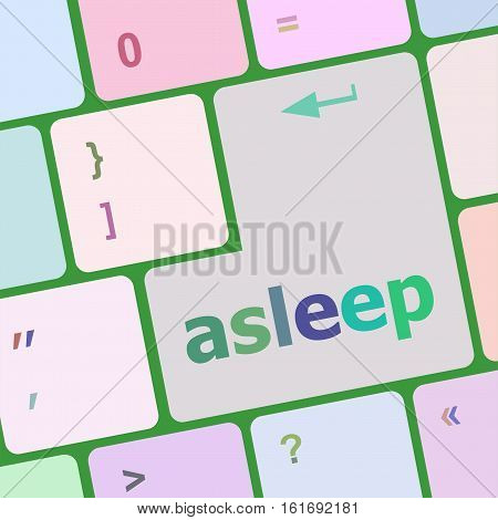 Keyboard With Enter Button, Asleep Word On It