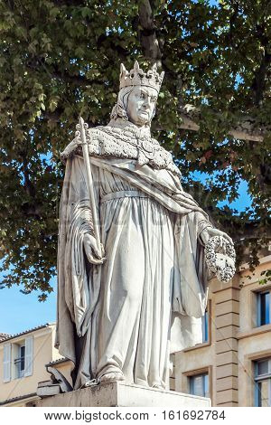 statue of  King Rene in Provence france