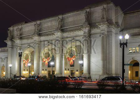Washington DC, Union Station at Christmas