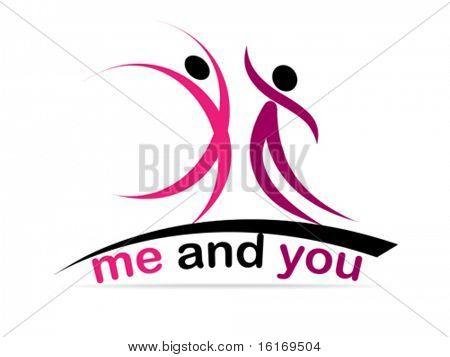 two dancer icon vector illustration