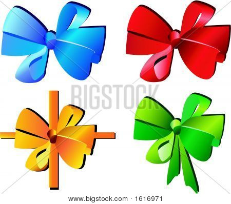 Celebratory Bow For Presents Vector