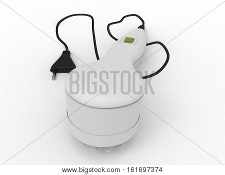 3d illustration of electric massager. white background isolated. icon for game web.