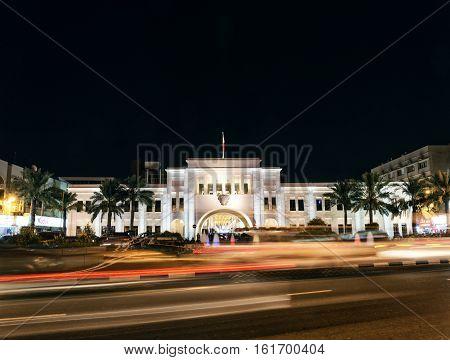 bab al bahrain landmark in manama bahrain