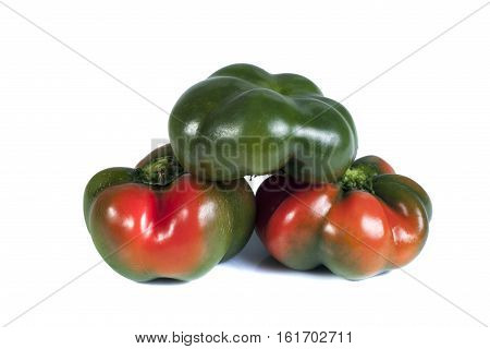 bulgarian pepper isolate on white background. Isolated objects