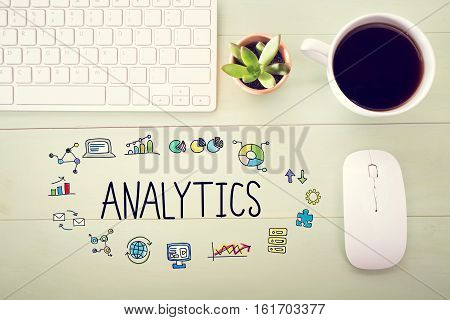 Analytics Concept With Workstation
