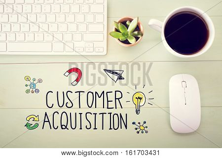 Customer Acquisition Concept With Workstation