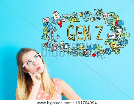 Gen Z Concept With Young Woman