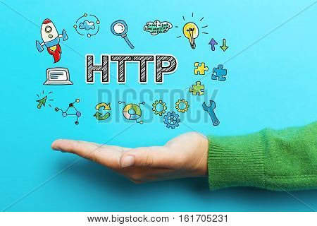 Http Concept With Hand