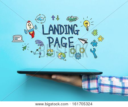 Landing Page Concept With A Tablet