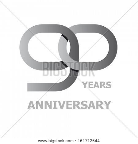 90 years anniversary symbol vector