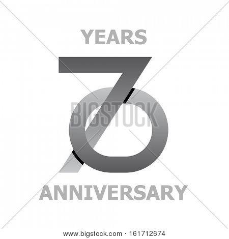 70 years anniversary symbol vector